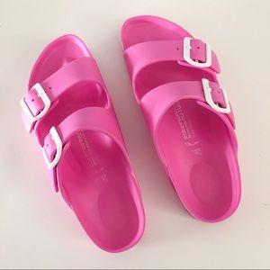 Pink Birkenstock Plastic Sandal Slides